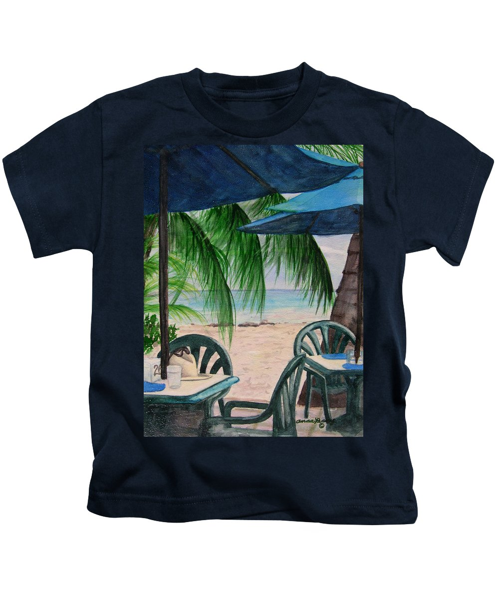 Barbados Kids T-Shirt featuring the painting Bajan Paradise by Anna Penny
