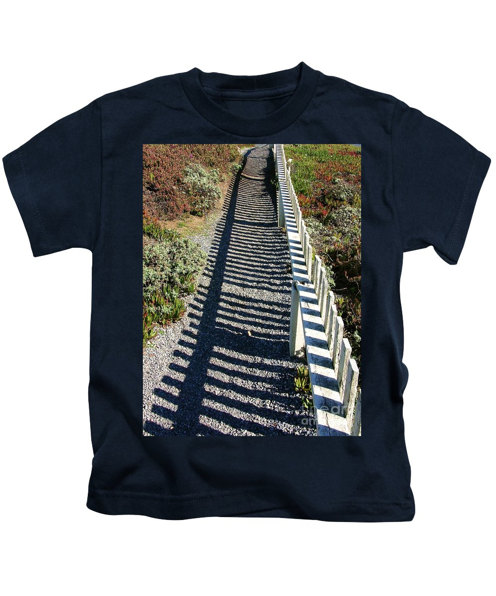 Half Moon Bay Kids T-Shirt featuring the photograph Beach Path by Carol Groenen