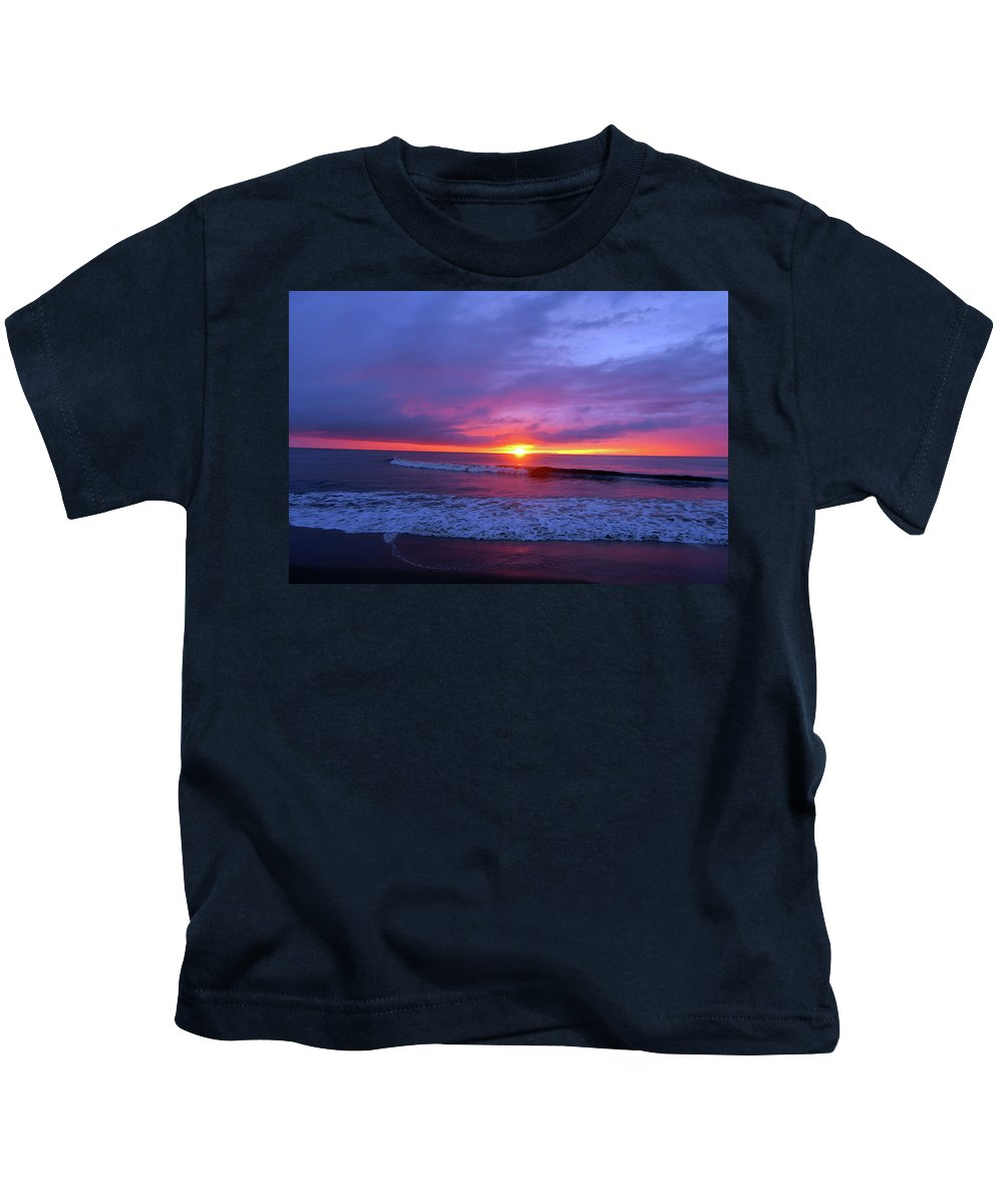 Beach Kids T-Shirt featuring the photograph Beach Sunrise by Mike Cockrill