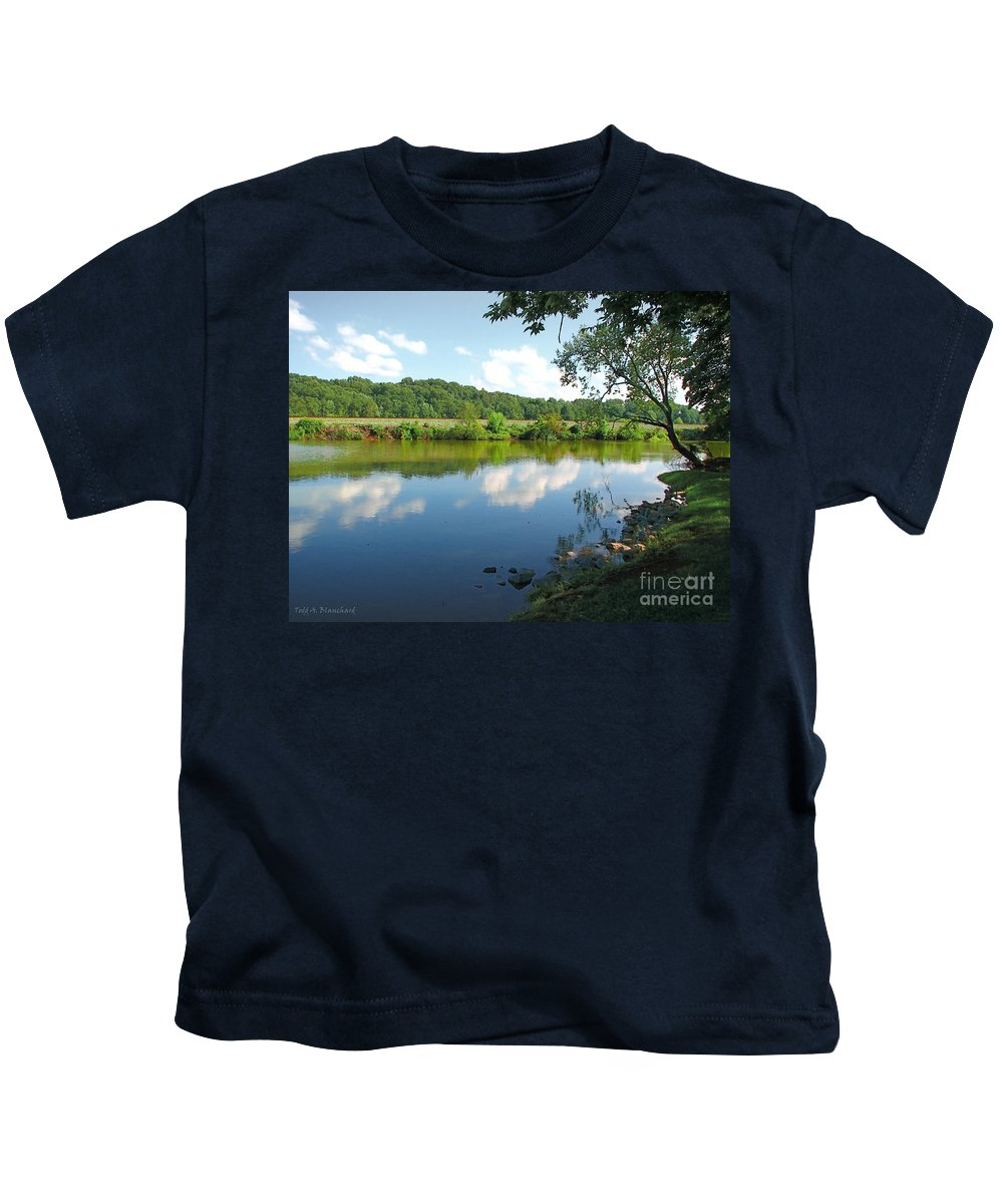 Landscape Kids T-Shirt featuring the photograph Beautiful Blue Water by Todd Blanchard