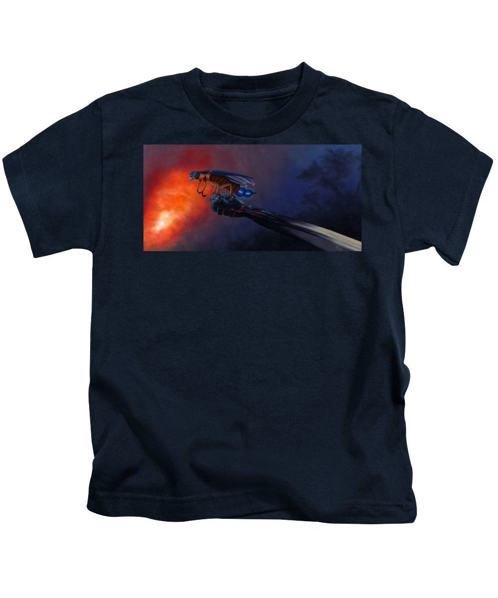 Fire Kids T-Shirt featuring the painting Beds Are Burning. by Patricia Van Lubeck