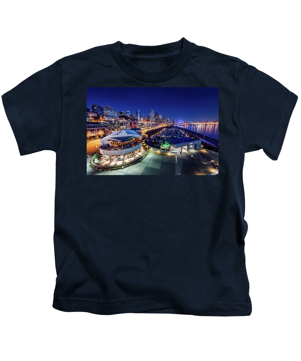 Bell Harbor Kids T-Shirt featuring the photograph Bell Harbor by Jon Reiswig