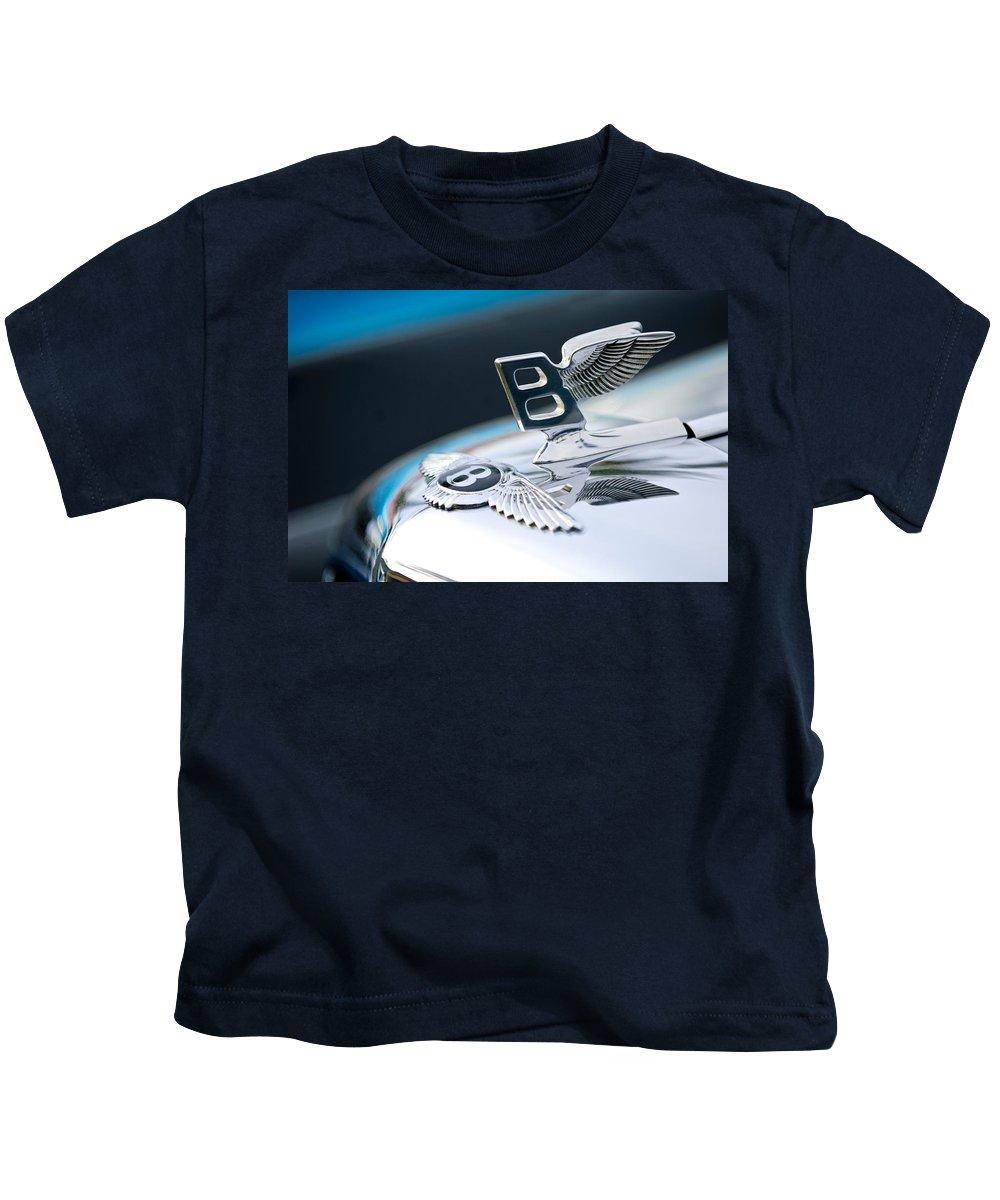 Bentley Kids T-Shirt featuring the photograph Bentley Hood Ornament by Jill Reger
