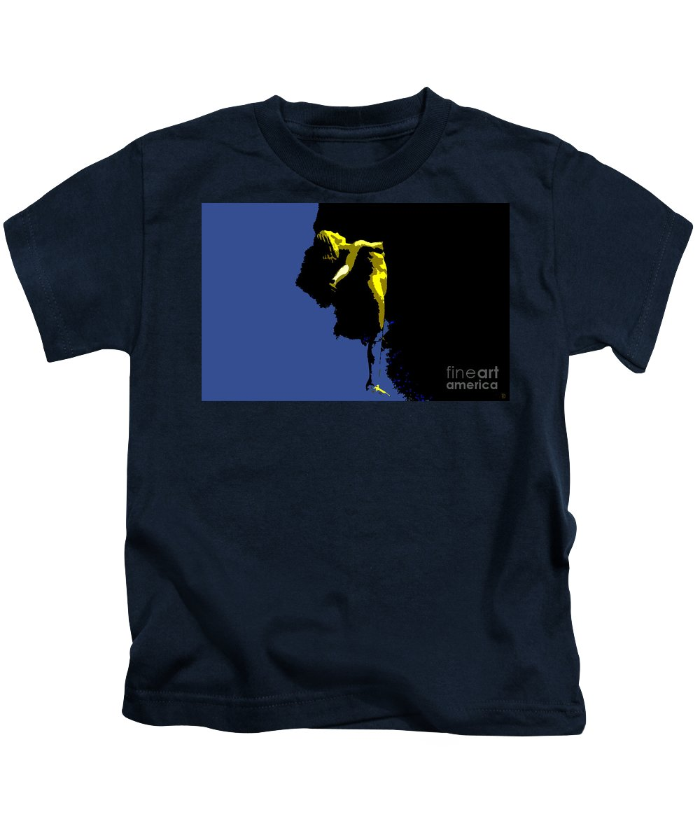 Heaven Kids T-Shirt featuring the painting Between Heaven And Earth by David Lee Thompson