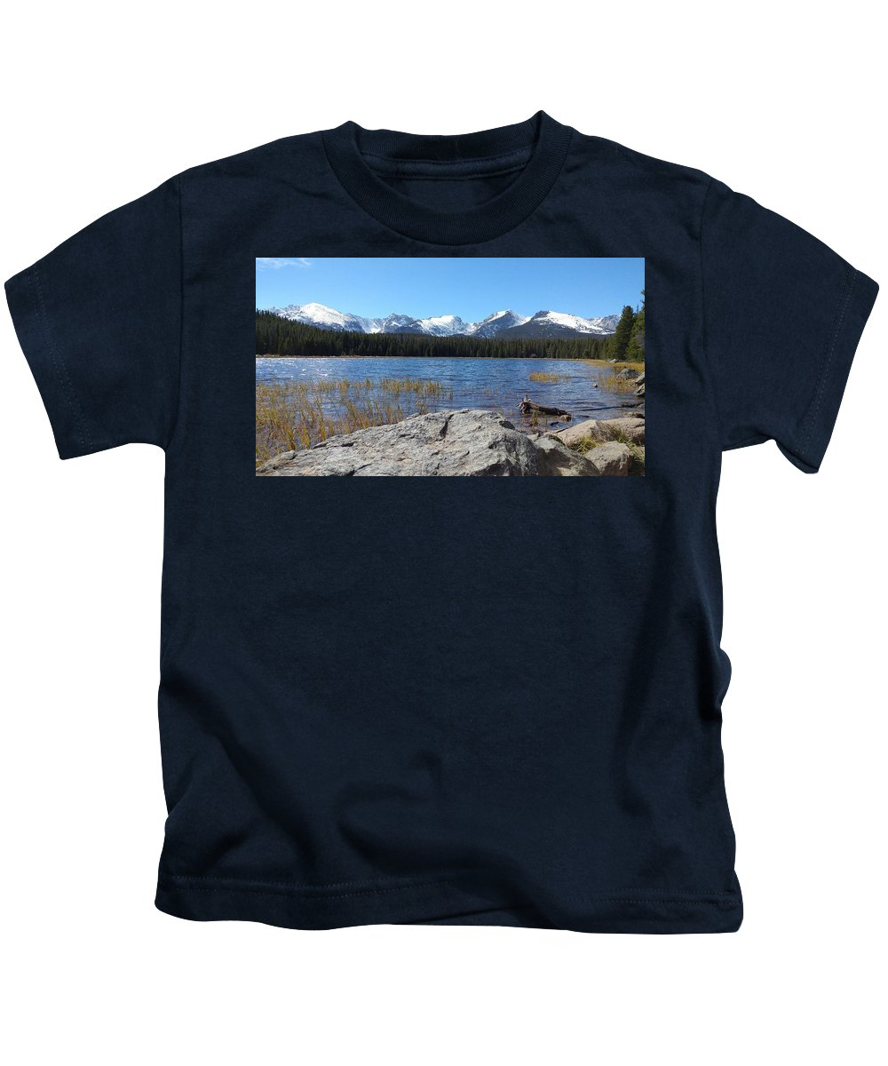 Bierstadt Lake In Rocky Mountain National Park Kids T-Shirt featuring the photograph Bierstadt Lake In Rocky Mountain National Park by Jennifer Forsyth