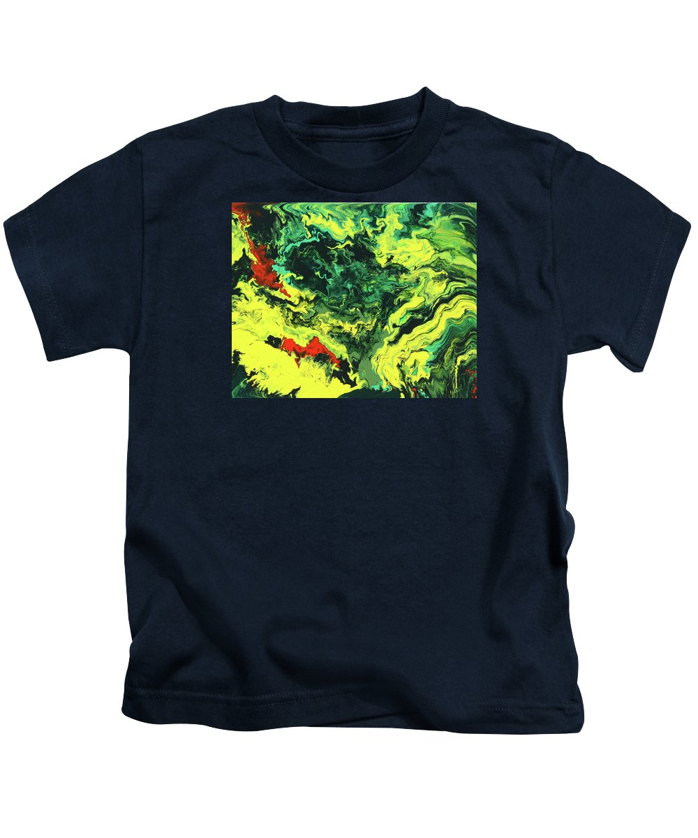 Fusionart Kids T-Shirt featuring the painting Bird Of Paradise by Ralph White