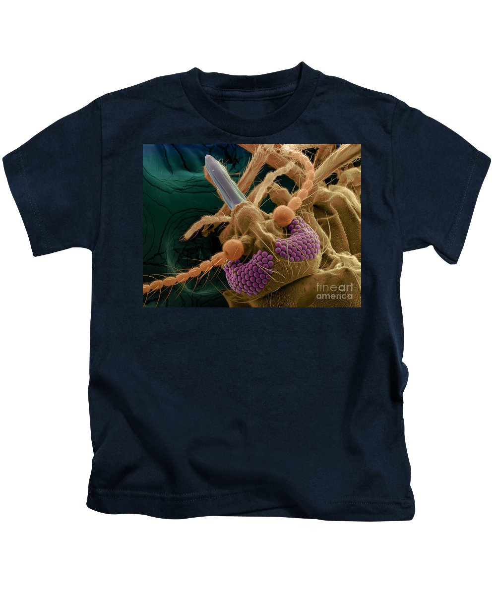 Insect Kids T-Shirt featuring the photograph Bitting Midge, Sem by Ted Kinsman