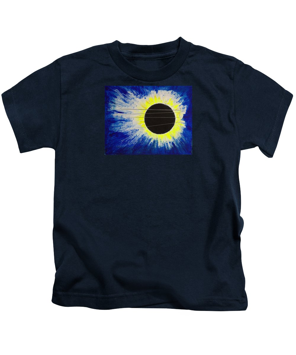 Abstract Kids T-Shirt featuring the painting Black Hole Blues by J R Seymour