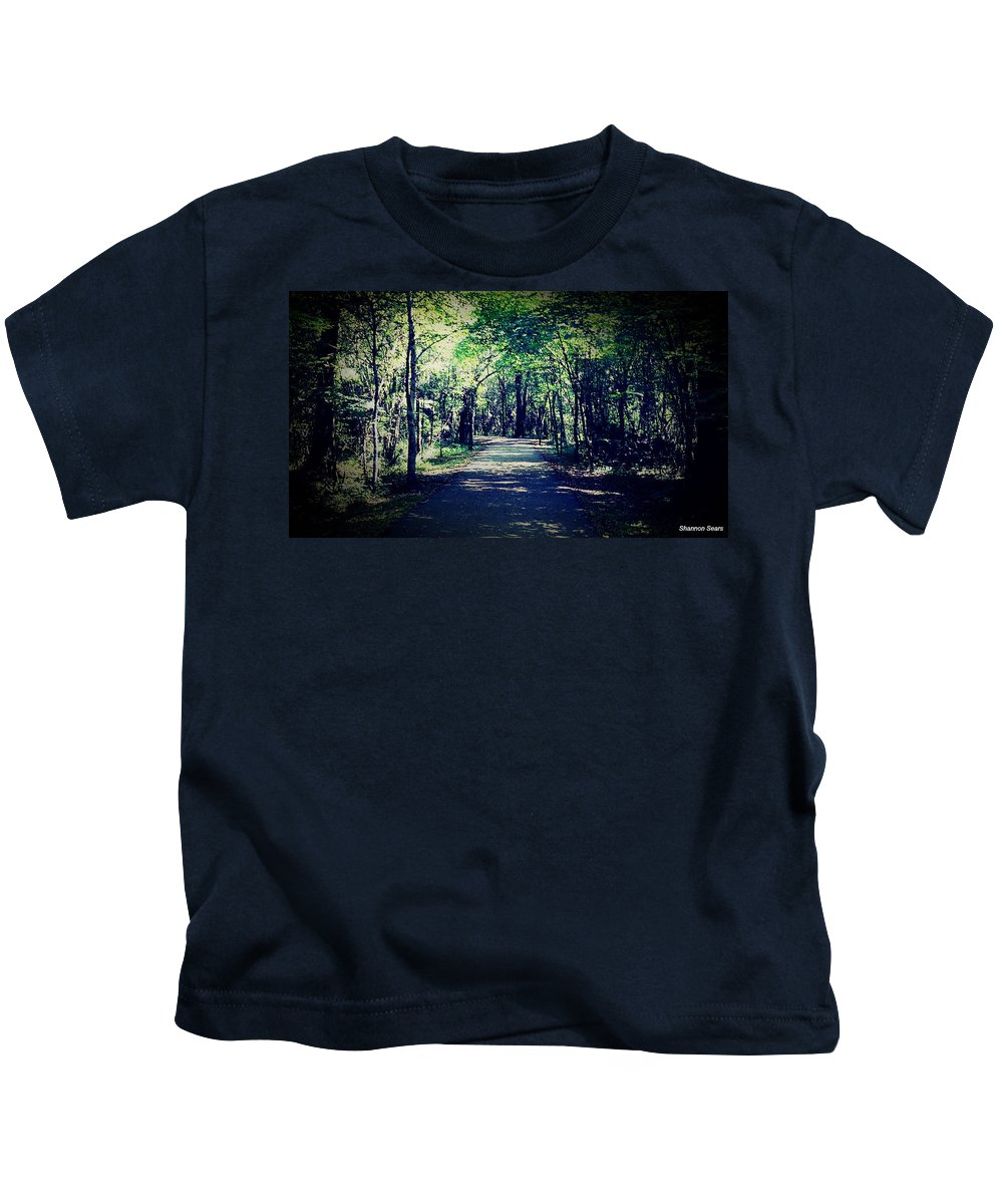Shannon Kids T-Shirt featuring the photograph Bliss Of Solitude Wander by Shannon Sears