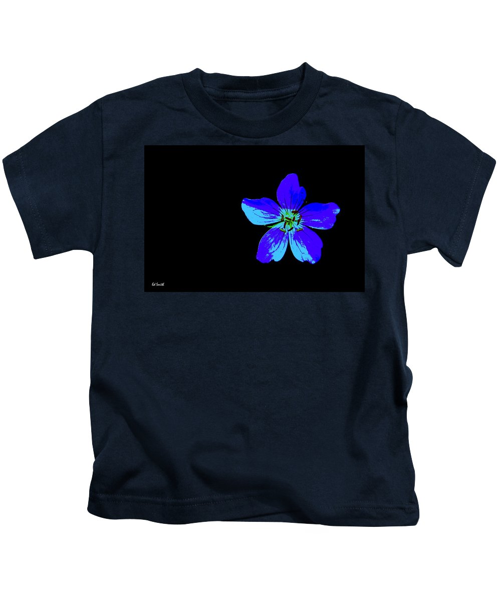 Blue By You Kids T-Shirt featuring the photograph Blue By You by Ed Smith
