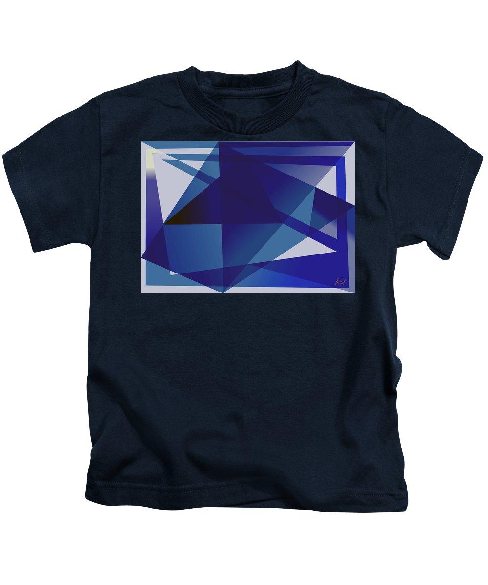 Blue Kids T-Shirt featuring the digital art Blue In Blue by Helmut Rottler