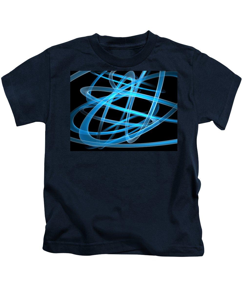 Scott Piers Kids T-Shirt featuring the painting Blue Light by Scott Piers