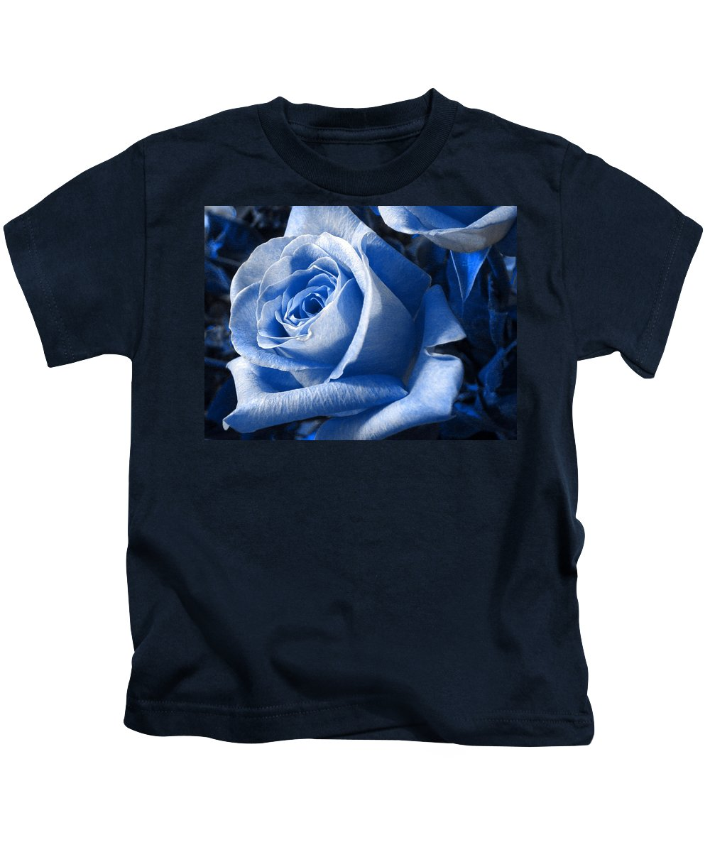 Blue Kids T-Shirt featuring the photograph Blue Rose by Shelley Jones