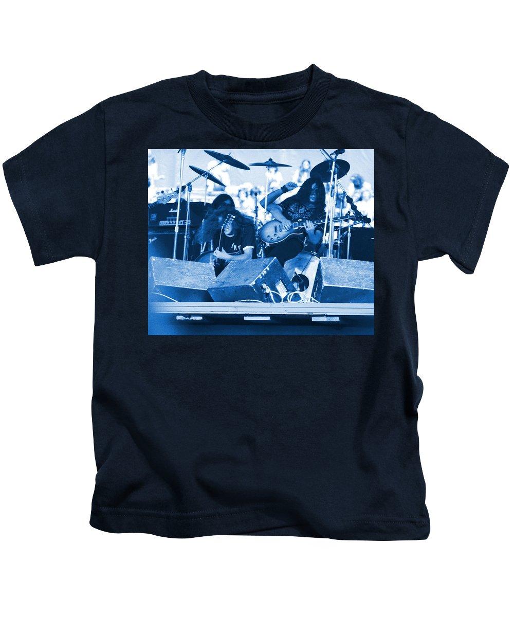 Lynyrd Skynyrd Kids T-Shirt featuring the photograph Blue Skynyrd Smoke by Ben Upham