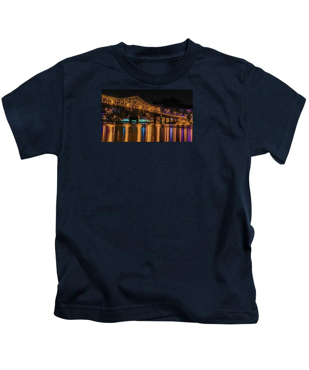 Bob Kids T-Shirt featuring the photograph A Winter's Night by Joy McAdams