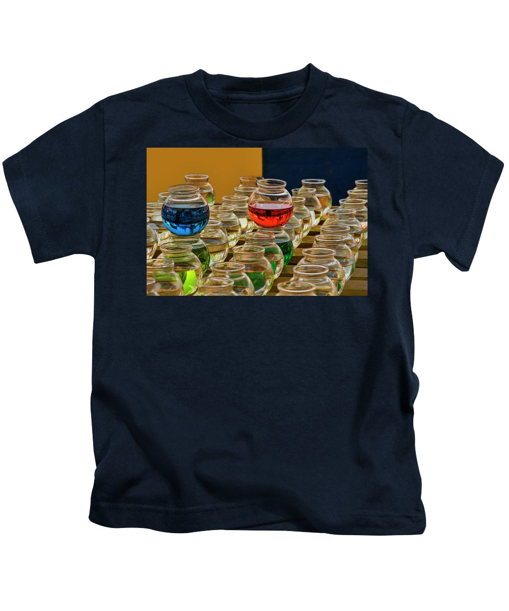 Bowls Kids T-Shirt featuring the photograph Bowls Full Of Color by Mitch Spence