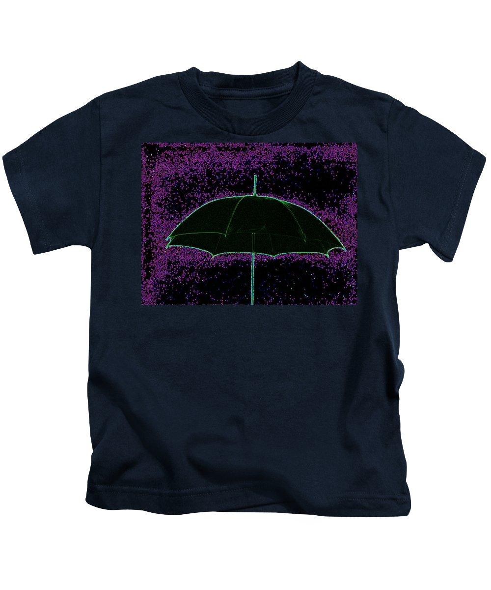 Umbrella Kids T-Shirt featuring the photograph Brella by Tim Allen