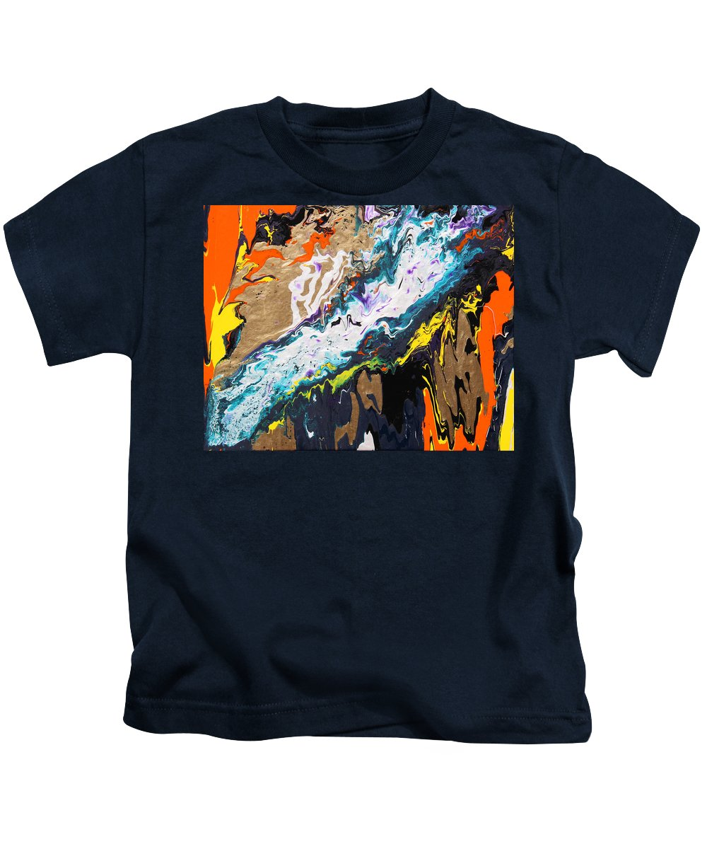 Fusionart Kids T-Shirt featuring the painting Bridge by Ralph White