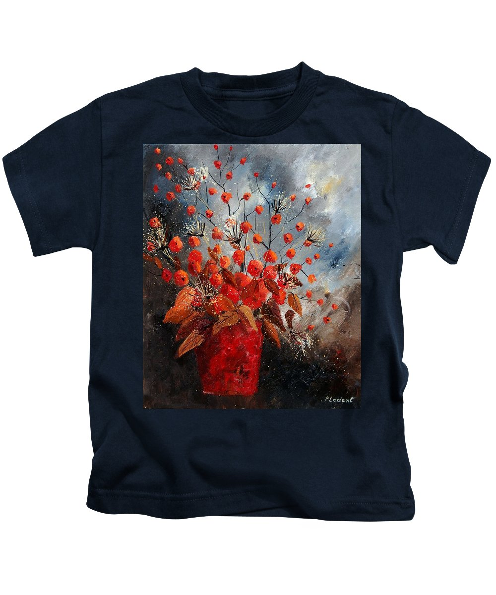 Flowers Kids T-Shirt featuring the painting Bunch 560608 by Pol Ledent