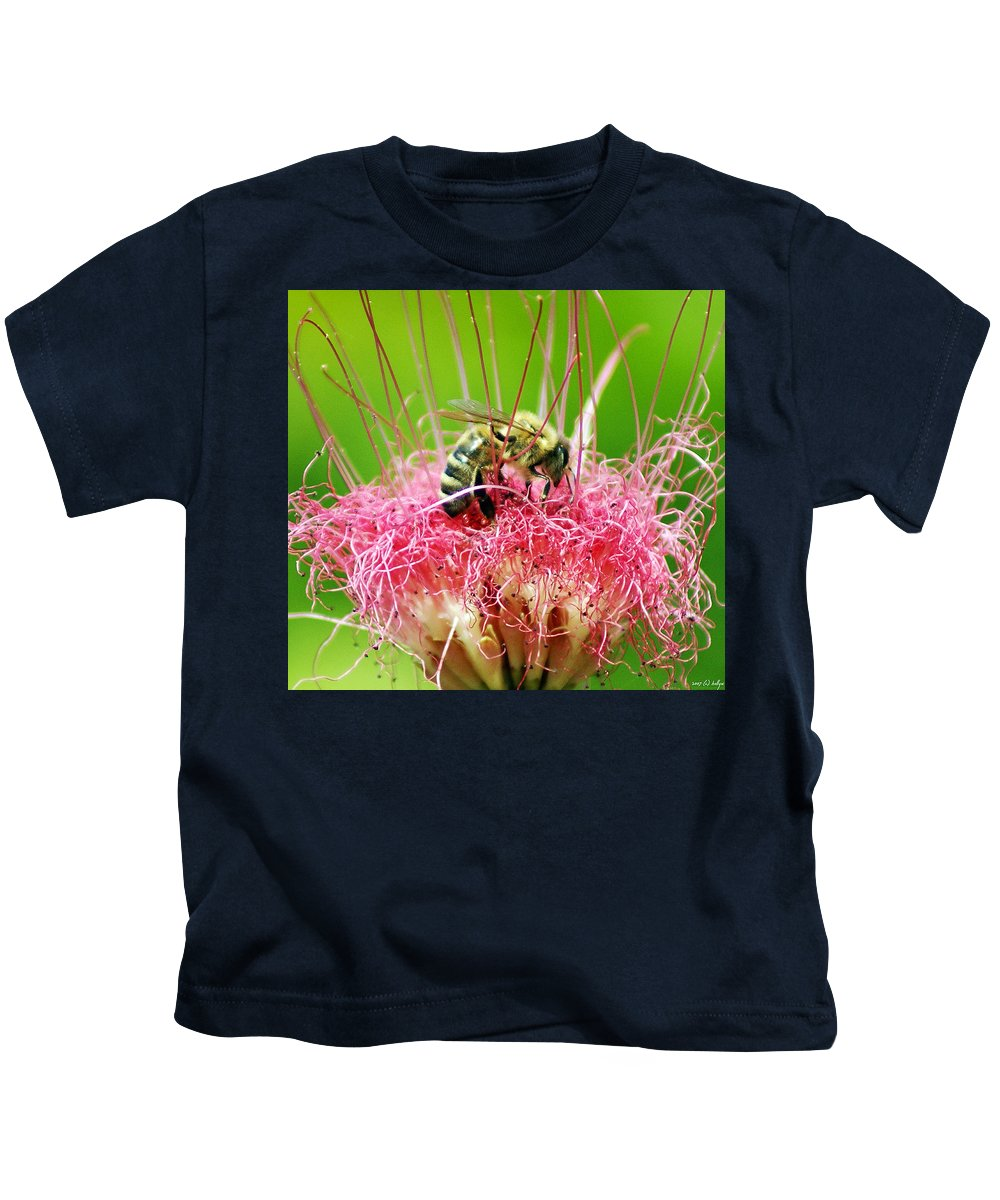 Nature Kids T-Shirt featuring the photograph Busy Bee by Holly Kempe