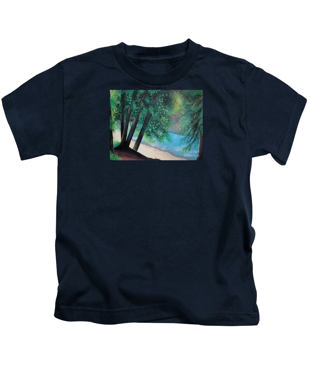 Landscape Kids T-Shirt featuring the painting California Magic by Helena Tiainen