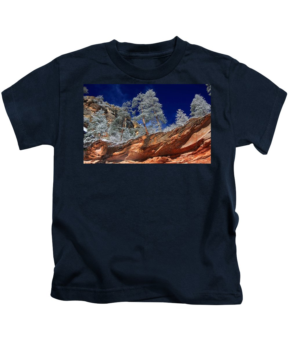Canyon Kids T-Shirt featuring the digital art Canyon by Dorothy Binder