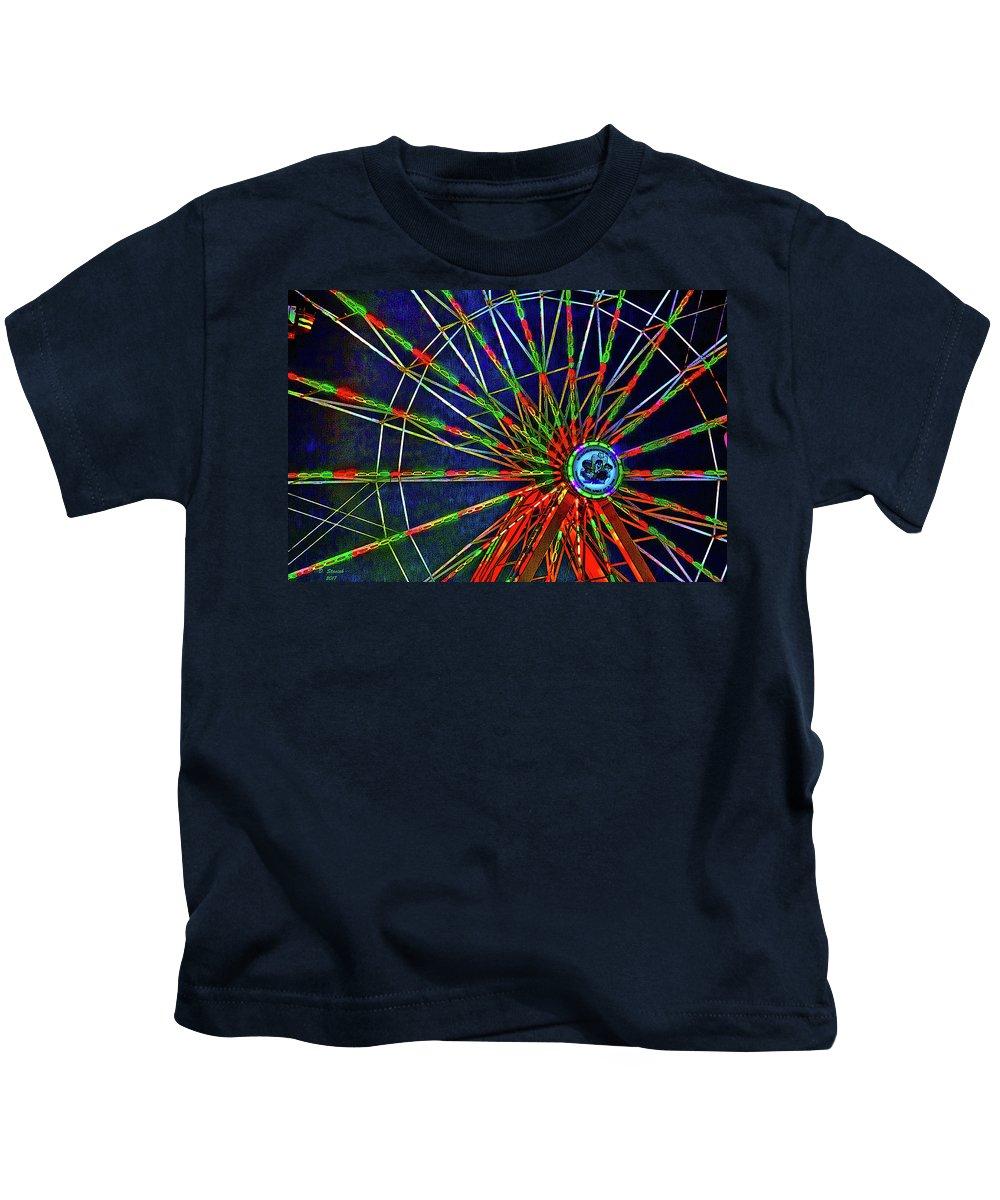 Digital Art Kids T-Shirt featuring the digital art Carnival by David Stasiak