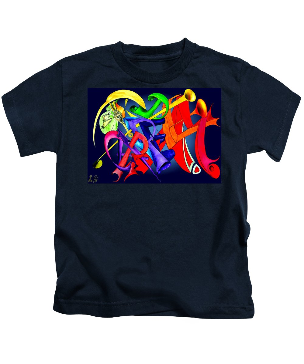 Carpediem Kids T-Shirt featuring the painting Carpe Diem 2010 by Helmut Rottler