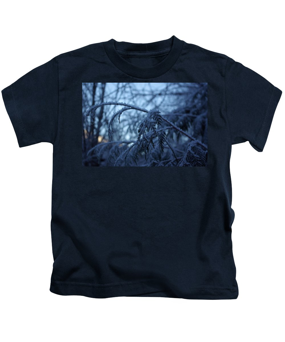 Cedar Kids T-Shirt featuring the photograph Cedars of Ice by Cindy Johnston