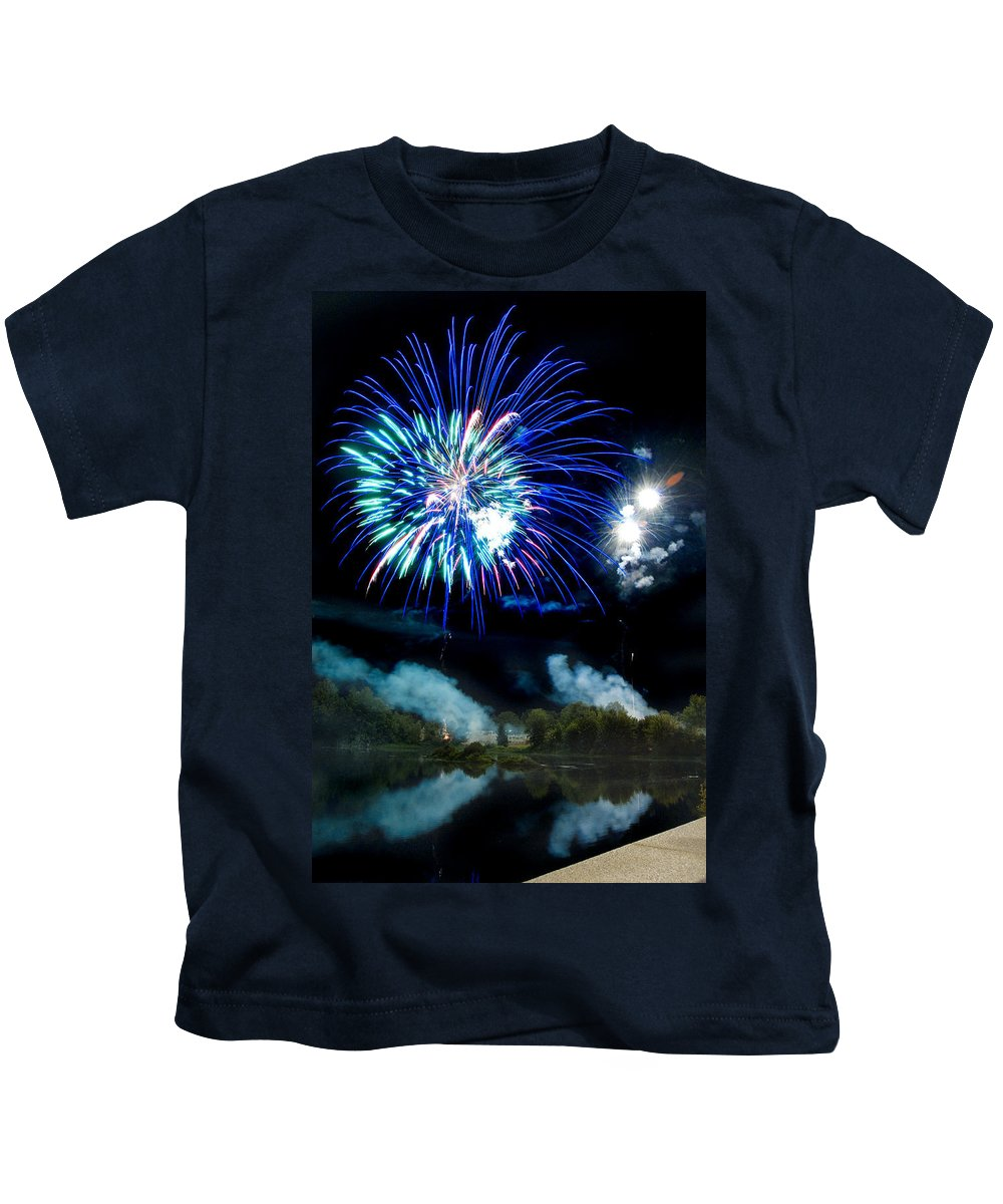 Fireworks Kids T-Shirt featuring the photograph Celebration II by Greg Fortier