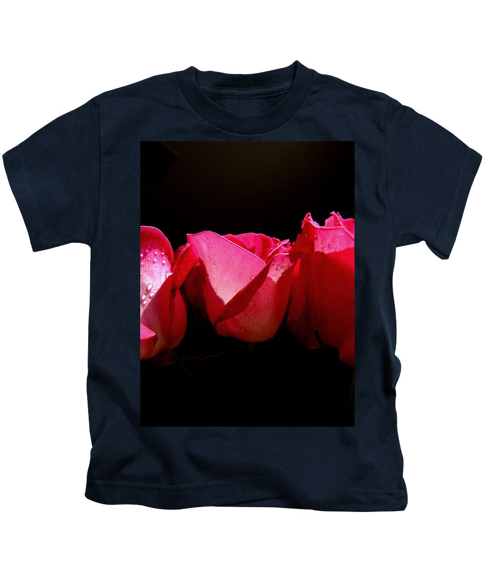 Rose Kids T-Shirt featuring the photograph Center Of Attention by Donna Blackhall