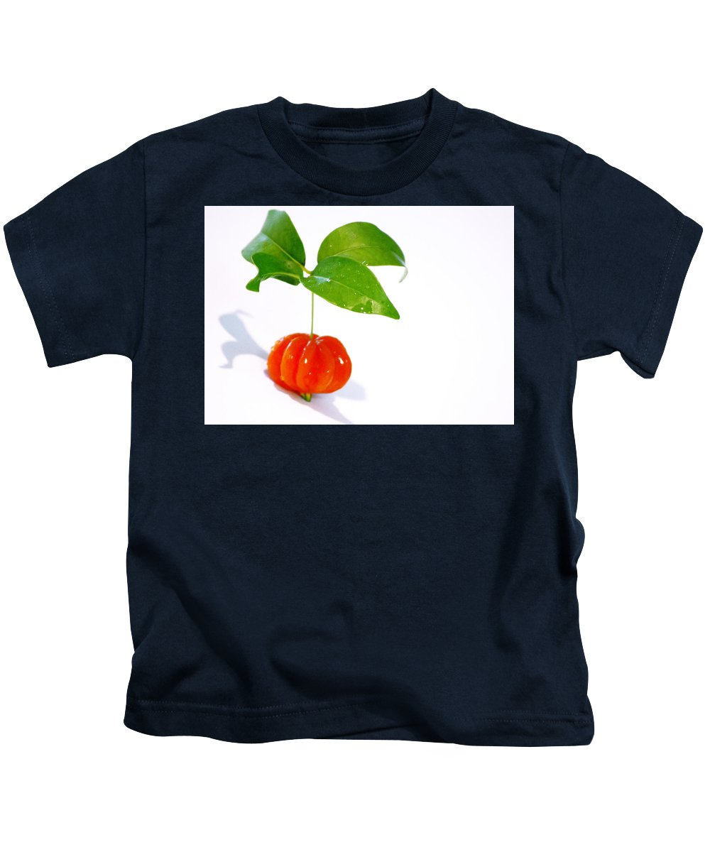 Food Kids T-Shirt featuring the photograph Cherry by Holly Kempe
