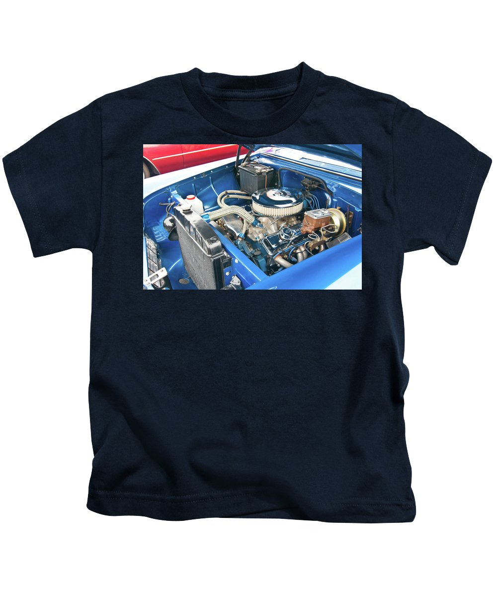 Antique Car Kids T-Shirt featuring the photograph Chevy 2044 by Guy Whiteley