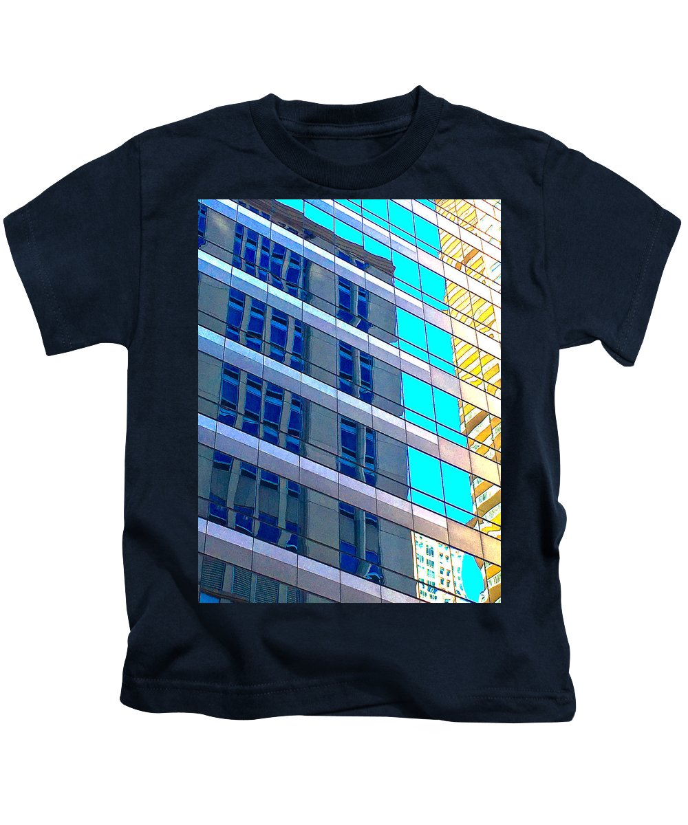 Chicago Structure 8 16 5 Kids T-Shirt featuring the photograph Chicago Structure 8 16 5 by Scott L Holtslander
