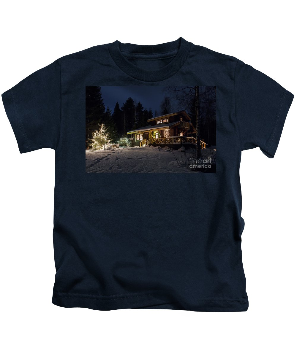 Christmas Kids T-Shirt featuring the photograph Christmas In Finland by Lasse Ansaharju