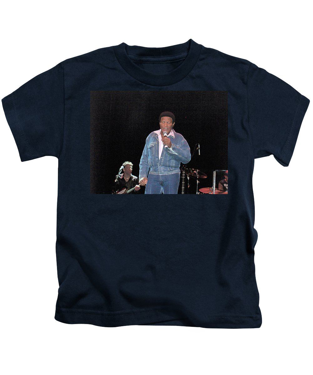 Chubby Checker Singer Bands Music Blues Dance Star Concert Kids T-Shirt featuring the photograph Chubby Checker by Andrea Lawrence