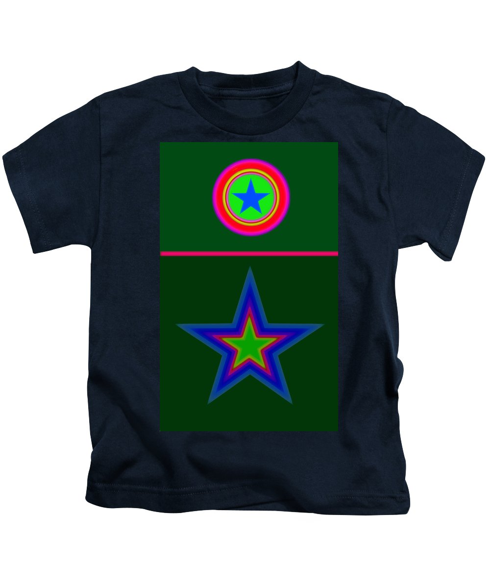 Circus Kids T-Shirt featuring the digital art Circus Green by Charles Stuart