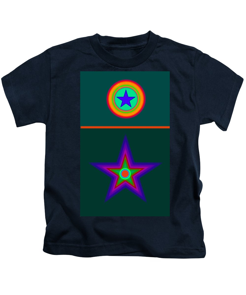 Circus Kids T-Shirt featuring the digital art Circus Vert by Charles Stuart