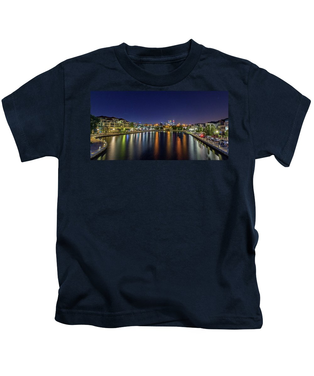 City Kids T-Shirt featuring the photograph City Lights by Sue Errington-Wood