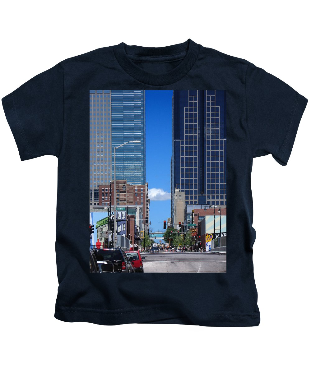 Kansas City Kids T-Shirt featuring the photograph City Street Canyon by Steve Karol