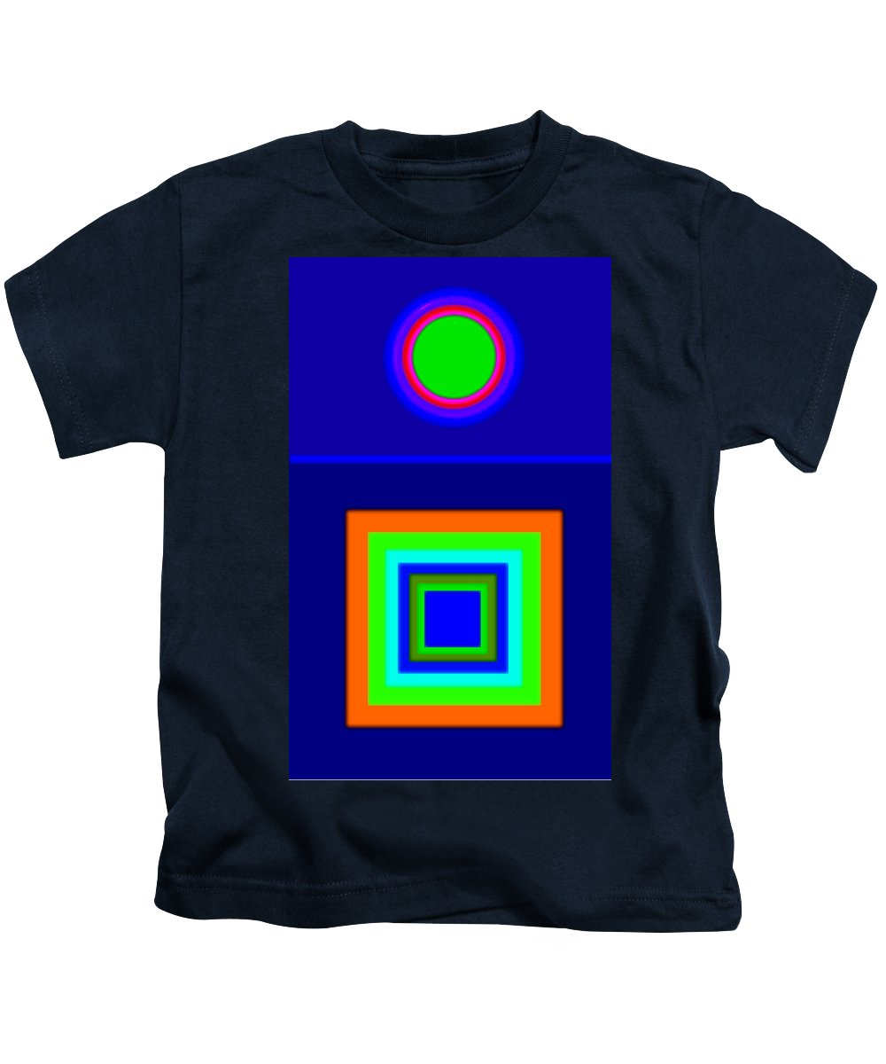 Classical Kids T-Shirt featuring the painting Classical Blue by Charles Stuart