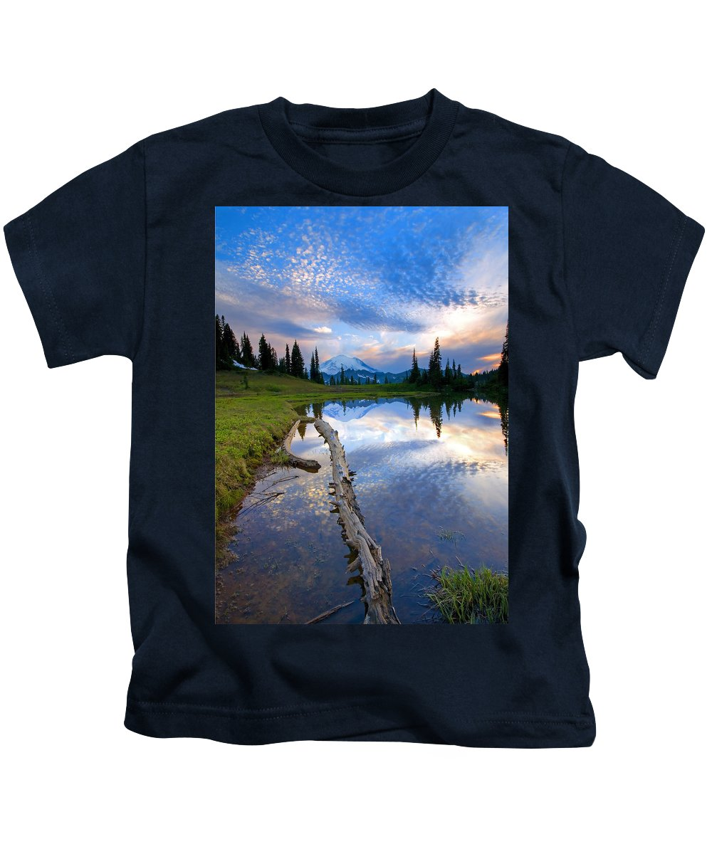 Landscape Kids T-Shirt featuring the photograph Cloud Explosion by Mike Dawson