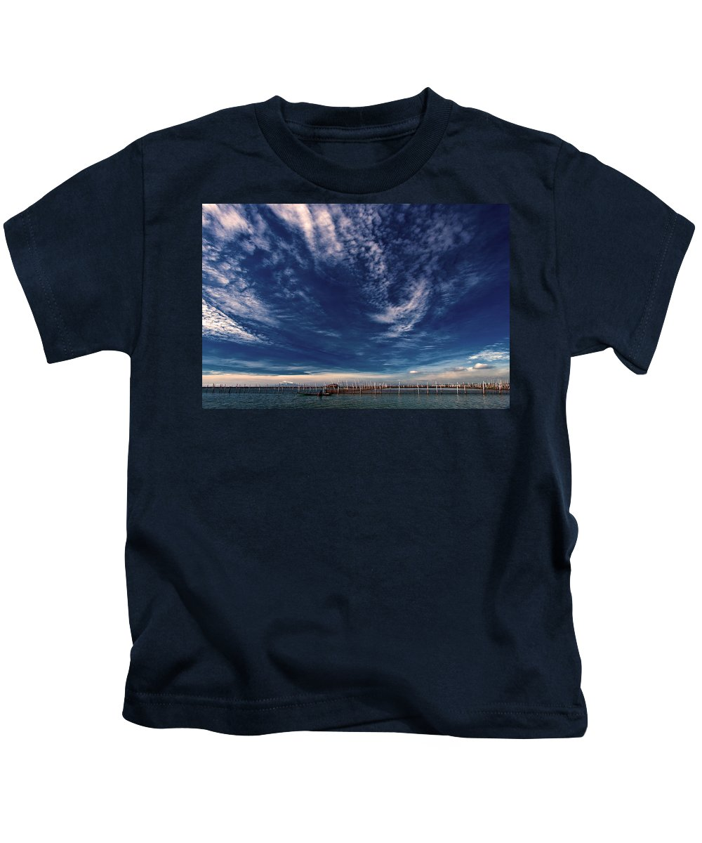 Nature Kids T-Shirt featuring the photograph Cloud Formation by George Cabig