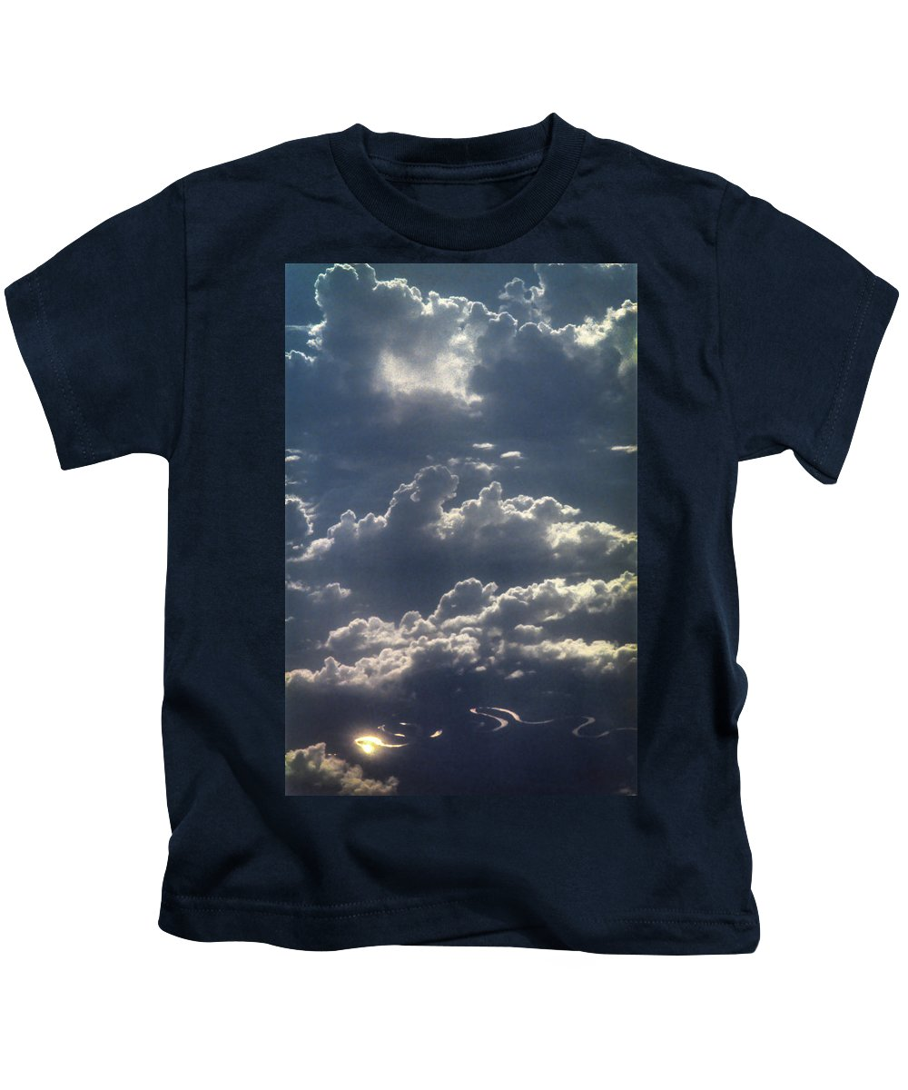 Australia Kids T-Shirt featuring the photograph Cloudscape And River by David Halperin