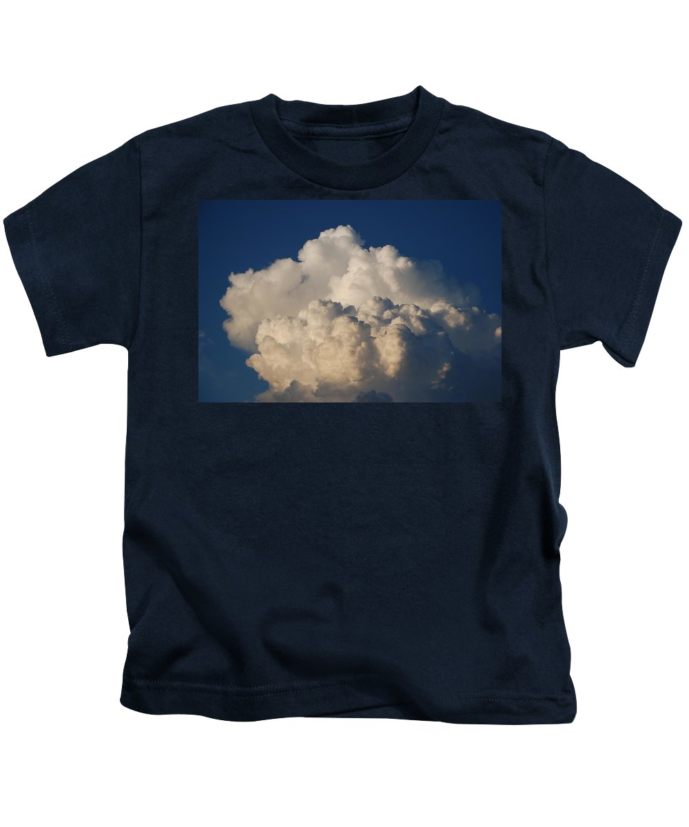 Clouds Kids T-Shirt featuring the photograph Cloudy Day by Rob Hans