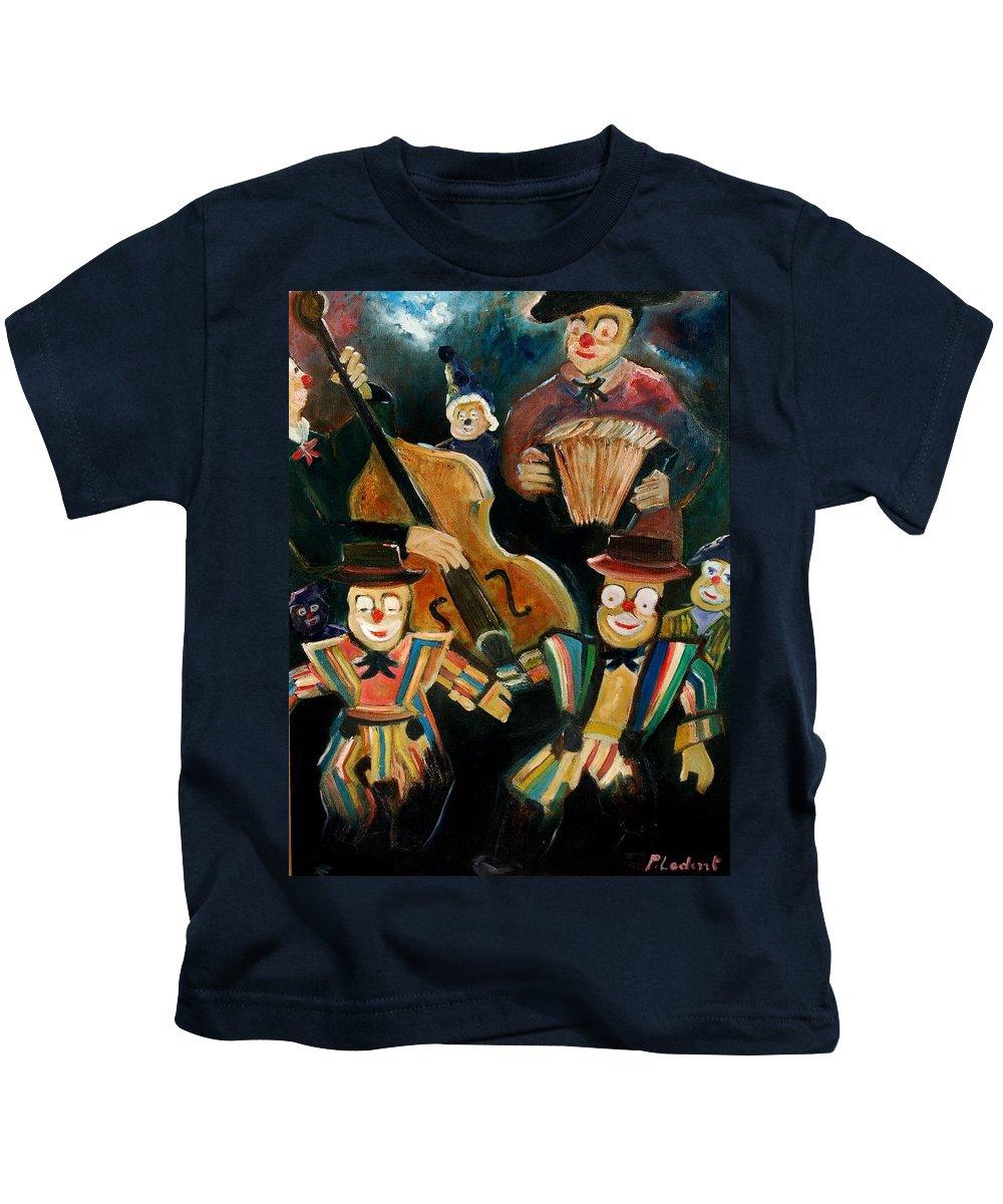 Clowns Circus Kids T-Shirt featuring the print Clowns by Pol Ledent