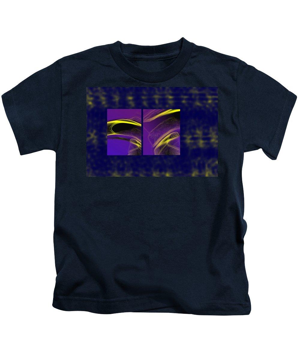 Abstract Kids T-Shirt featuring the digital art Cobra by Steve Karol