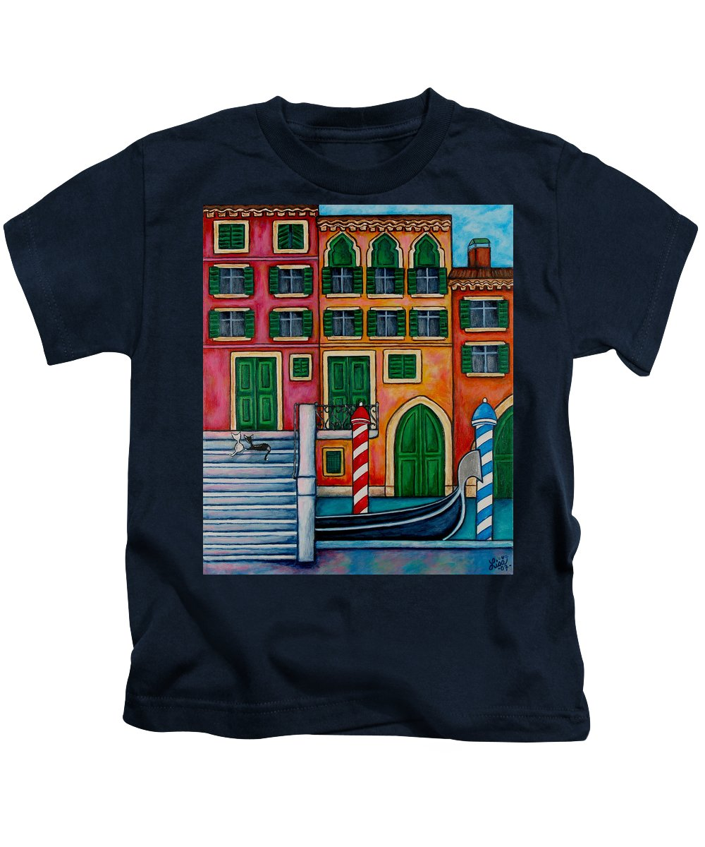 Venice Kids T-Shirt featuring the painting Colours of Venice by Lisa Lorenz