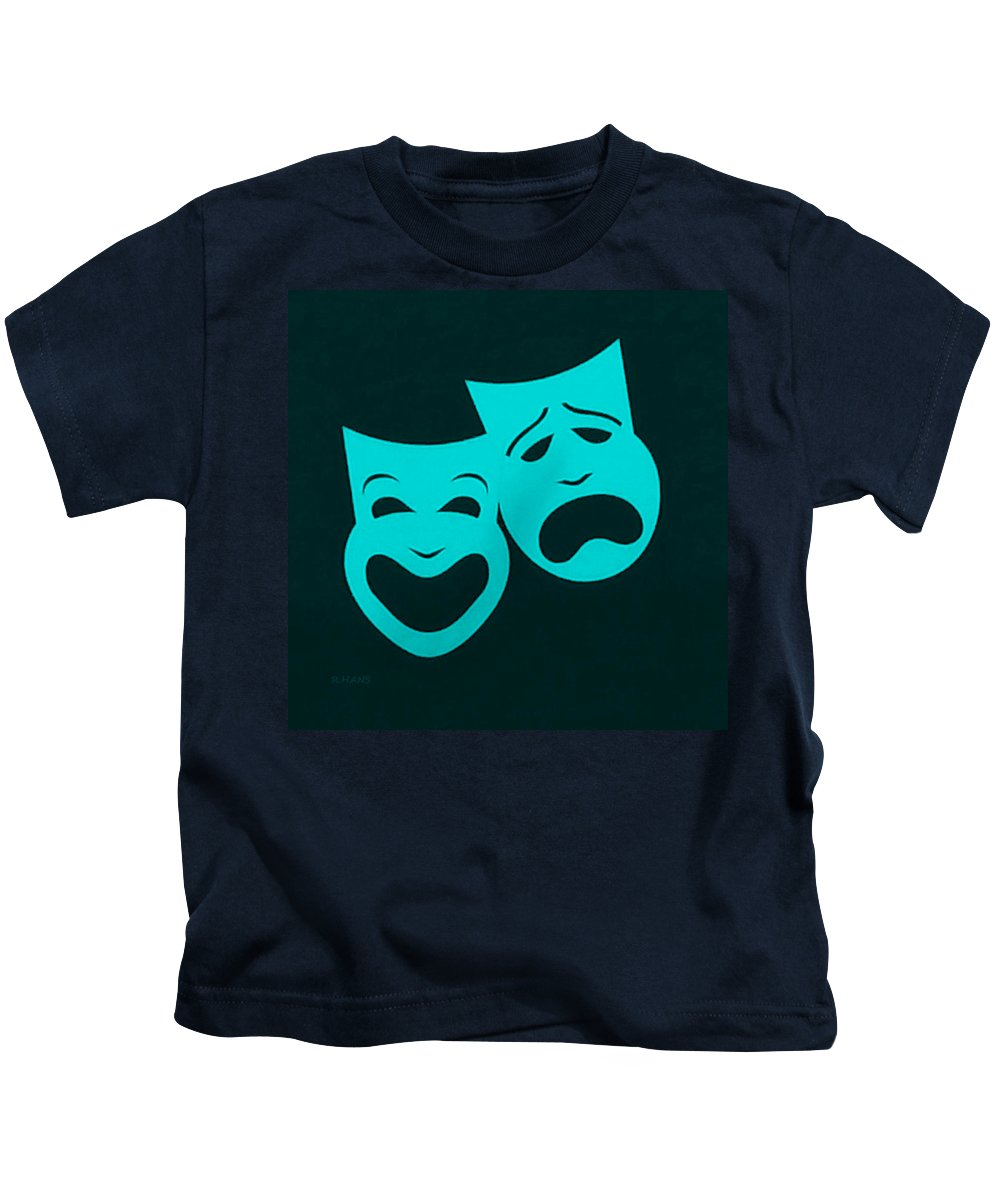 Comedy And Tragedy Kids T-Shirt featuring the photograph Comedy N Tragedy Aquamarine by Rob Hans