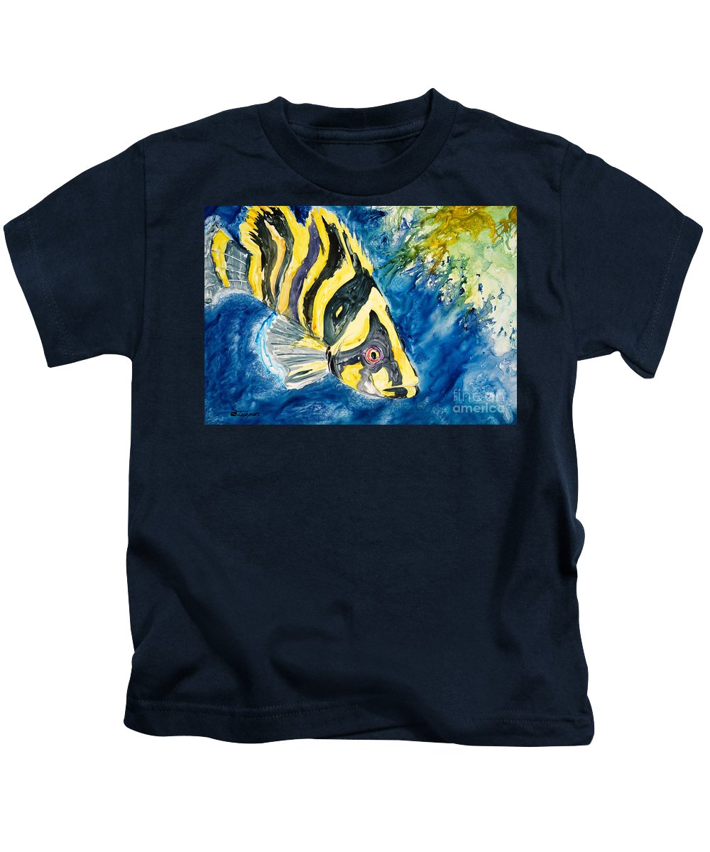 Alongside Kids T-Shirt featuring the painting Coral Trees by Tanya L Haynes - Printscapes